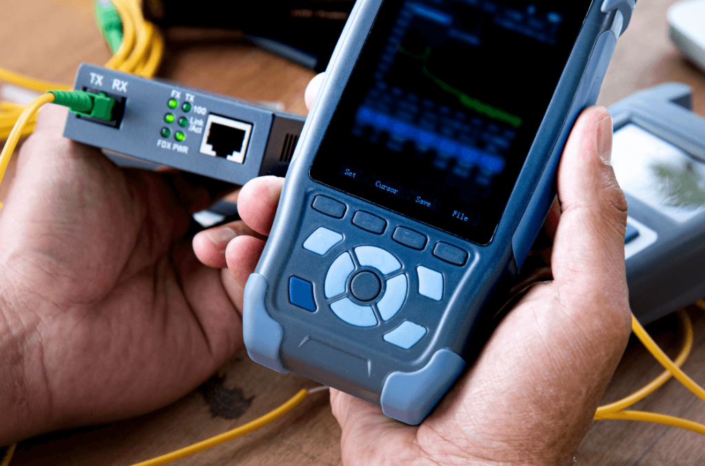handheld device checking wiring