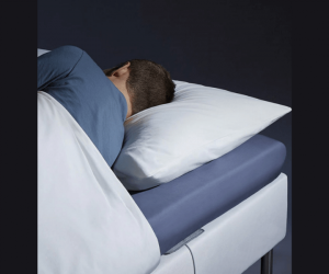 person sleeping in comfort bed